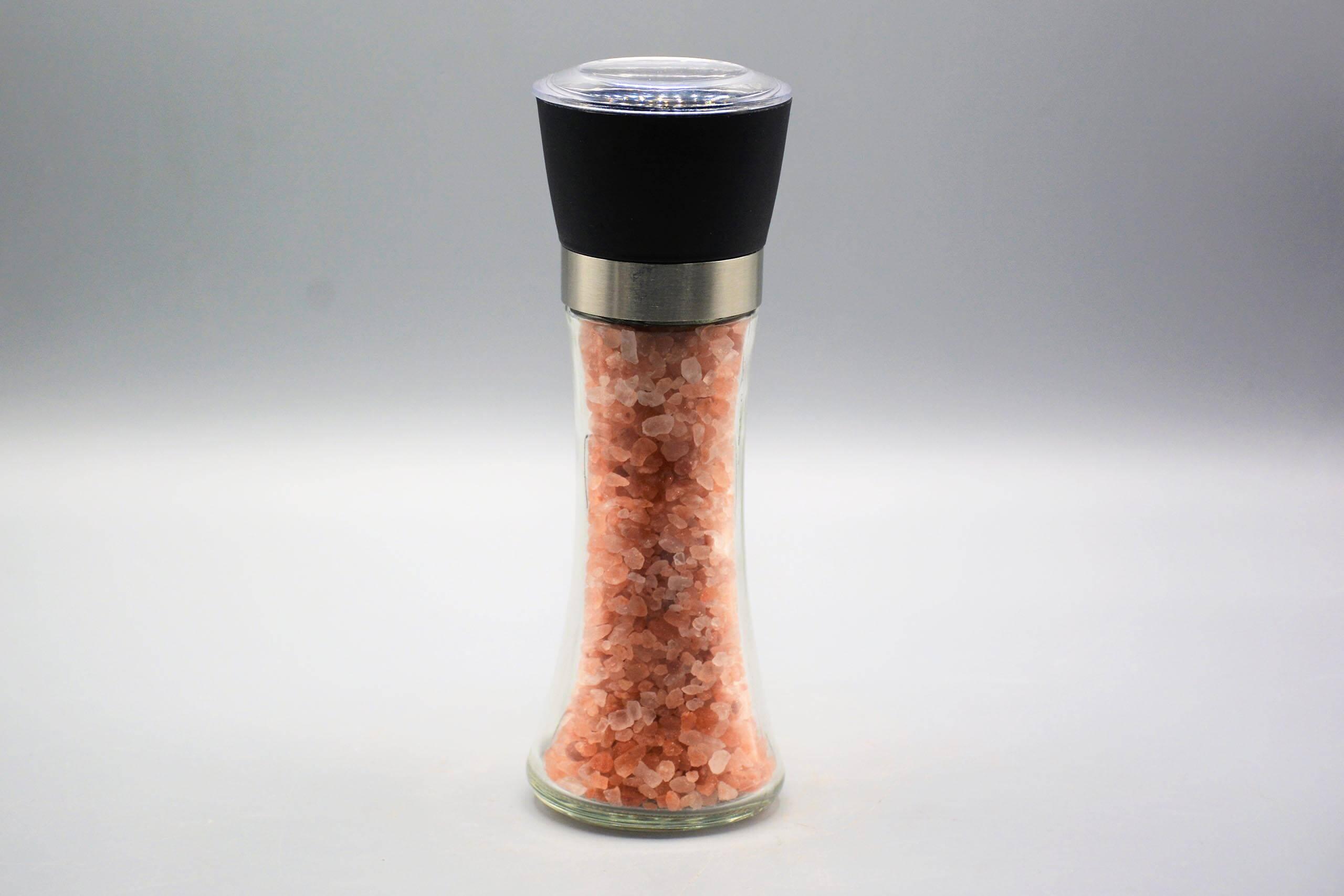 Glass Grinder Bottle - Himalayan Salt Art